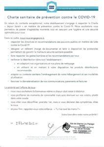 Lou Papagai Charte Séjour Serein